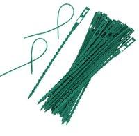 Nouveau Patio usine de plastique attaches de câble réutilisables pour câbles Ties jardin Accrobranche support réglable plantes de jardin vente liée outil