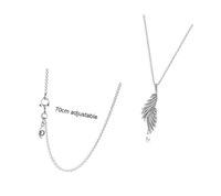Fahmi 925 Silver Charm Chain Halsband Phoenix Feather Pendant Ladies Smycken