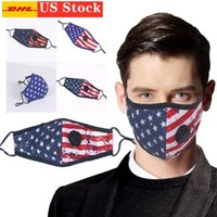 US stock Fashion Designed American Flag Mask Cotton Reusable...