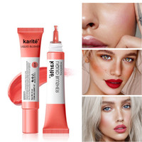 Karite Liquid Blush Cosmetics Blusher Gelクリーミールージュ自然美しさの顔は化粧品の長いリソタリングの液体ぼっくり4色