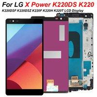 LG X Güç K220 için Cep Telefonu Dokunmatik Paneller K220DS K220DSF K220DSZ K220F K220H K220T LCD Ekran Pantalla Meclisi Çerçeve Ile Parçaları Aksesuarları Değiştir