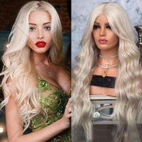 Simbeauty Doğal Dalga Dantel Ön İnsan Saç Peruk Öncesi Pretted Kadınlar Için 13x6 Ombre Ash Platin Sarışın Düz Tam Dantel Sonu