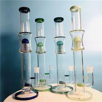 Narghilè di vetro con albero perc 18 pollici alta 19 mm Dimensione connettore (GB-461)