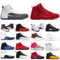 أجنحة الرجال رخيصة 12 12S أحذية كرة السلة لعبة الحجر الأزرق REVERSE FLU غاما الأزرق XII أحذية جامعة الذهب رجالي الرياضة