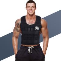 30KG Caricamento Weighted Vest per la boxe allenamento Running Sling allenamento fitness regolabile Giacca Gilet Sand Abbigliamento