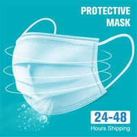 DHL 12hours ship! Disposable Face Masks Disposable 3 Layers ...