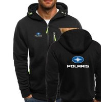 NEW Polaris Snowmobiles Print Autumn Men Hoodies Zipper Swea...