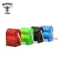 HORNET Пластиковые Херб Grinder Ручной Дробилка для курения Grinder Tobacco Cutter Grinder С хранения Case Hand Miller