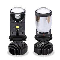 1PCS Farol lâmpadas Lens Car LED farol H4 Mini Fisheye luzes da frente da motocicleta Farol Auto Lâmpadas 6500K