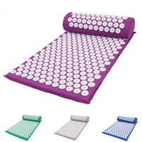Yoga Mat Fitness Wellness Therapy Body Foot Acupressure Mass...