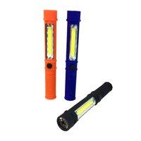Przenośne latarnie Mini 3W COB Work Light Również 1W Bateria LED Baza magnetyczna Baza magnetyczna i Klip Garaż Konspekcji Lampa Bezprzewodowa naprawa samochodów