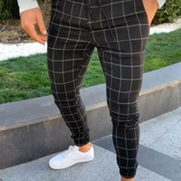 Trendy Hommes Joggers Slim Gym Costume Convient Sweatpants Sport Gym Skinny Bureau Pantalons simple Pantalons Pantalons Skinny