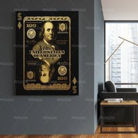 Canvas Paintings Dollar Modular Pictures Modern Printed Money Poster Bill Wall Artwork Frame American Home Decor For Living Room