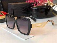 موضة 1106 ساحة النظارات الشمسية الذهب الأسود رمادي المظللة عدسة gafas دي سول المرأة النظارات الشمسية النظارات الجديدة مع صندوق