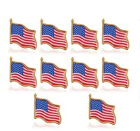 Американский флаг Pin отворотом Соединенные Штаты США Hat Tie Tack Знак Pins Мини броши для одежды Сумки Украшения GD
