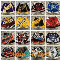 2020 Men Vintage Basketball Shorts Big Face Mitchell & Ness NBA