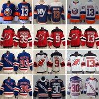 New York Islanders Hockey 13 Mathew Barzal genäht 13 Nico Hisochier 9 Taylor Halle 30 Henrik Lundqvist 36 Matten Zuccarello Jerseys S-3XL