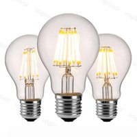 LED Bulbs A60 No Dimmable Filament Candle 4W 6W 8W E27 Edison Retro Energy Saving For Crystal Chandeliers Pendant Floor table Lights DHL