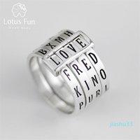 luxo- Fun real prata esterlina 925 Natural Handmade Fine Jewelry rotativo Anel pode fazer as palavras diferentes anéis para mulheres Bijoux Y19051602