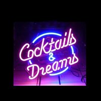 Cocktails Dreams Neon Sign Custom Handmade Real Glass Tube H...