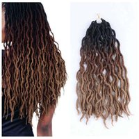 2020 Jumbo Nu Gypsy extensão do cabelo Locs alta qualidade Tranças Freetress ondulado Curly Crochet Braid cabelo Goddess Faux Locs com preto us uk
