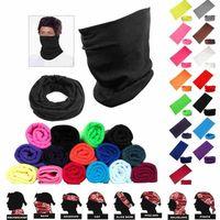 25 цветов Мода Бандан Face Mask Спорт на открытом воздух головной повязка Тюрбан браслет платок шея Gaiter Волшебных шарфы Велоспорт банданы CYZ2547