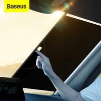 BOYSUS Car Sunshade Retrátil Pára-brisa Automático Sunshade Curtain Front Janela Foldável Dobrável Pára-brisa Sun Shade 58/64 / cm