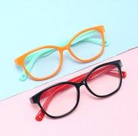 Fashion Boy fille cadre souple pour les enfants anti-radiations Anti Blue Light lunettes de blocage silicone miroir plat Lunettes