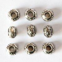 Epacket DHL 7mm * 10mm Trommelförmige tibetische Silber Abakus Perlen Nicht verblassende Galvanisierungslegierung Runde Perlen DFDWZ012 Abstandhalter