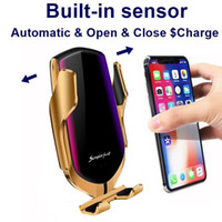 Caricabatterie Wireless R1 intelligente automatico di bloccaggio auto iPhone per X XR XS 8 più veloce ricarica Air Vent Mount Phone Holder