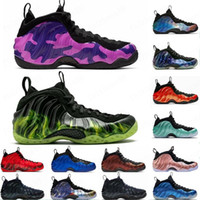 2019 USA Schaum ein Penny Hardaway Mann-Basketball-Schuhe Vandalized Paranorman Hyper purpurnen Doernbecher Lila Camo Alternate Galaxy Turnschuhe