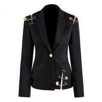 Blazer Ceket Hollow Out Patchwork Lace Up Kadın Blazer Çentikli Uzun Kollu İnce Şık Bayan Takım Elbise 2020 Sonbahar