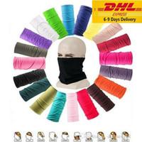 DHL US unisex de la magia multifuncional bufanda del tubo de Bandana bufanda cubierta de la máscara de cuello polaina Sombreros Beanie Austproof deporte al aire libre
