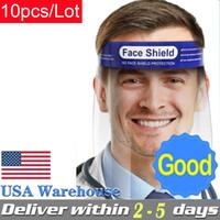 10ピース/ロット保護顔シールドクリアマスク防曇フルフェイスマスク透明なバイザー保護安全米倉倉庫