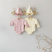 INS Newest Baby Boys Girls Rompers Ribbed Cotton Quality Lon...