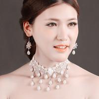 2020 vestido de noiva Nova Acessórios Colar Pérola Lace Retro Moda Handmade clavícula Ladies cadeia de atacado de jóias