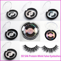 Mink Lashes 3D Silk Protein Mink False Eyelashes Long Lastin...