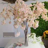 Big136 cm kunstmatige kersenbloesem wijnstokken Oosterse Home Bruiloft Garden Party Shop Decor Chriatmas Luxe Cherry Fake Flores