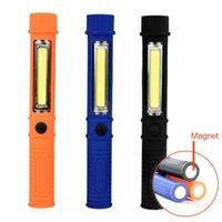 LED 250LM COB القلم ضوء LED مصباح التخييم العمل الشعلة مع الجانب المغناطيسي كليب القاع الدفاع عن النفس المغناطيسي مصباح العمل