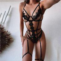 Diseñador vendaje de tres puntos Tipo Sistema atractivo de la ropa interior de las mujeres 2pcs del bikini atractivo de la mujer de la ropa interior con paneles Conjunto