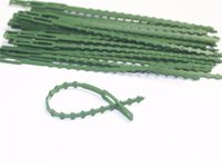 Caliente Césped Patio planta plástico reutilizables de uniones de cable de uniones de cable para la herramienta que ata el Jardín del árbol que sube Soporte ajustable Planta de jardín