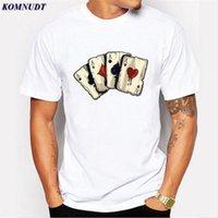 Покер Дизайн тенниска игральных карт Одежда Мужчины футболки Las Vegas рубашки Одежда Верхняя Мужчины Смешной 3D Printing Plus Size