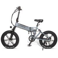 AB stok XWXL09 Sömbolik Elektrikli Bisiklet 500 W 20 inç Katlanır Elektrikli Moped Bisiklet 6061 Alüminyum Alaşım Elektrikli Bisiklet E-Bike