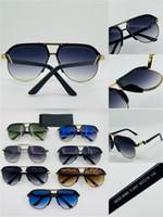 Novos homens de design de moda óculos de sol 9085 piloto retro meia-frame fashion avant-garde estilo de design must-have para os homens da moda