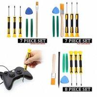 8pcs / Set Torx T8 T6 T10 H35 Destornillador Herramientas primer set kit de reparación de herramienta del destornillador de la palanca para Xbox One Xbox 360 PS3 PS4 KN2v #