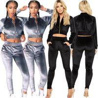 di 2020 nuova delle donne Cina abbigliamento a buon mercato delle donne all'ingrosso due pezzi imposta solido pantaloni colore del mantello Waistless flanella