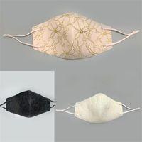 Recycling wiederverwendbar Mascarilla Faltbare Frauen Gesichtsmaske Anti Haze schützen Mode-Mund-Atemschutz-Spitzenblume Custom Tailor 4 5hs B2