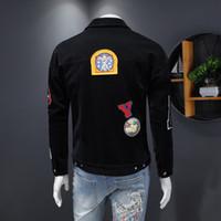 Printemps 2020 nouvelle veste en velours côtelé revers broderie chemise nette personnalité de la marque de marée rouge manteau mince baseball masculin uniforme masculin