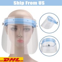 US Stock DHL Face Shield Isolation Protective Mask Respirato...