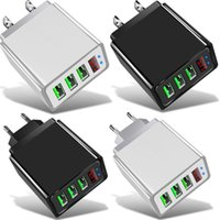 Universal Display 3A Max 3 Ports Eu US Wall Charger For Iphone 7 8 11 Samsung Xiaomi Android phone pc
